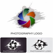 Design for a Photography company logo with a nice brush effect poster