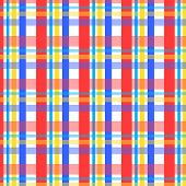 Colorful checks pattern in white red blue and yellow poster