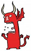 crazy devil cartoon poster