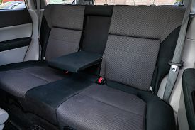 Novosibirsk/ Russia - May 03 2020: Subaru Forester, Comfort Car Inside. Clean Car Interior: Black Ba