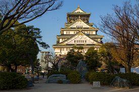 Osaka, Japan - December 10, 2014: Photograph Of The Historical Castle