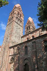 Towers Of St Faith's Church, Selestat In France