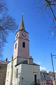 Newgate Historic Clock Tower In Jedburgh, Scotland