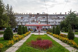 Osh, Kyrgyzstan - October 5, 2014: Exterior View Of The Government Wedding Registry Building