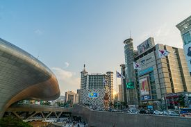 Seoul, South Korea - Jun 29, 2018 : Dongdaemun Design Plaza (ddp) Is One Of The Top Tourist Attracti