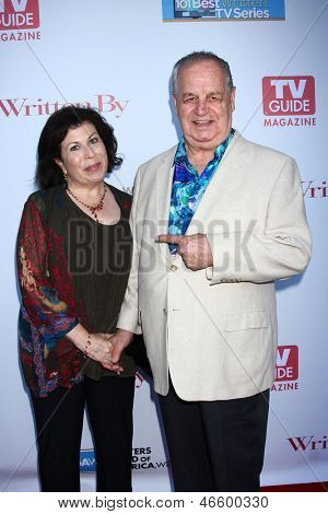 LOS ANGELES - JUN 2:  Winnie Holzman, Paul Dooley arrives at the WGA's 101 Best Written Series Announcement at the Writers Guild of America Theater on June 2, 2013 in Beverly Hills, CA