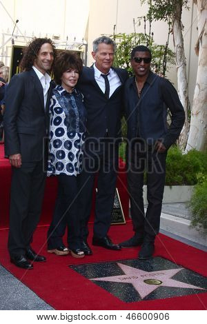 LOS ANGELES- MAY 31:Kenny G, Carole Bayer Sager, David Foster, Kenny Edmonds at the David Foster Hollywood Walk of Fame Star Ceremony at the Capital Records Building on May 31, 2013 in Los Angeles, CA