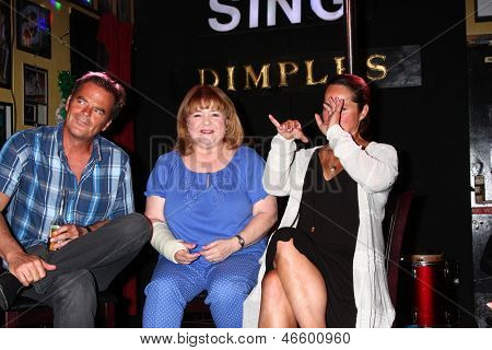 LOS ANGELES - JUN 1:  Wally Kurth, Patrika Darbo, Crystal Chappell at the Judi Evans Celebrates 30 years in Show Business event at the Dimples on June 1, 2013 in Burbank, CA