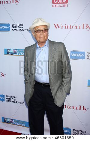 LOS ANGELES - JUN 2:  Norman Lear arrives at the WGA's 101 Best Written Series Announcement at the Writers Guild of America Theater on June 2, 2013 in Beverly Hills, CA