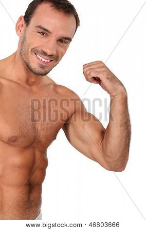 Portrait of muscular man