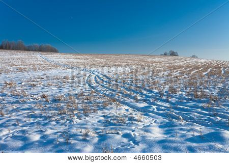 Winter Field Road