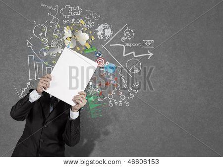 Businessman Hand Show Black Cover Book Of Success Business