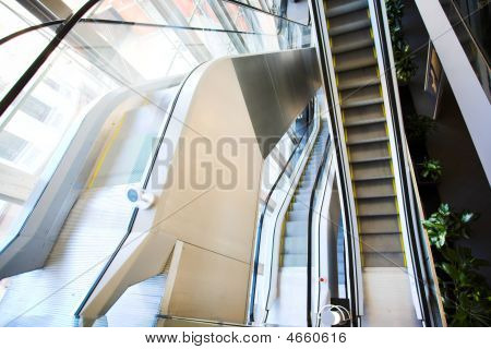 bewegliche Rolltreppe