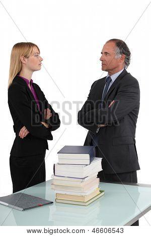 A disagreement
