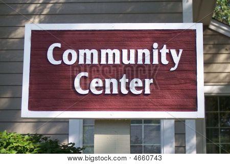 Sign - Community Center