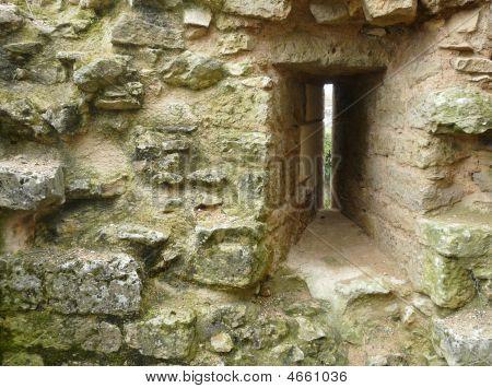 Arrow Slit In A Castle