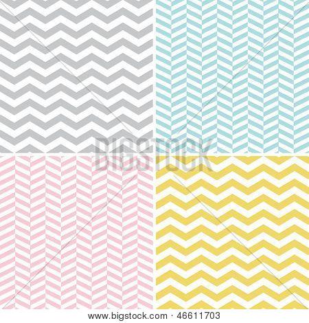 Set of seamless zigzag (chevron) pattern