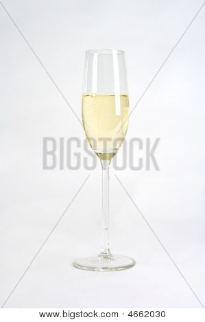 Large Glass With Champgne