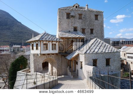 Tower In Mostar Old Town