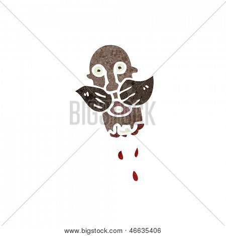 retro cartoon gross severed head
