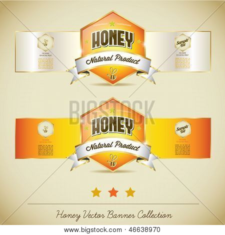 Honey Vector Banner Collection