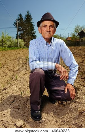 Senior Farmer Outdoor