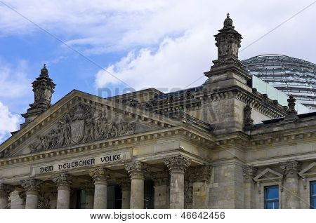 Berlin, Germany, Reichstag And Bundestag Building