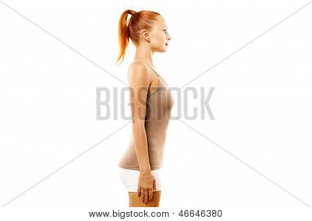 Young woman with ideal bearing