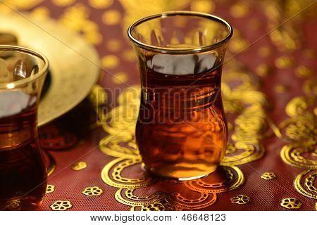 An close up of an islamic tea cup - blur treatment