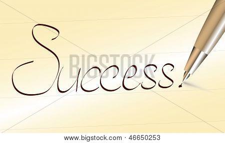 Успех слова написаны перо