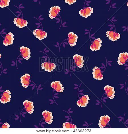 pretty little poppy ~ vector seamless background