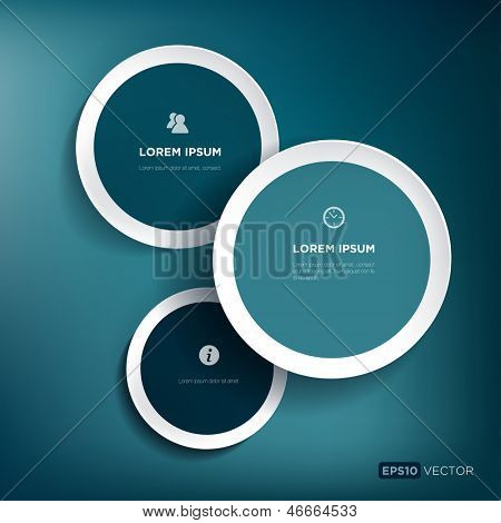 Vector illustration with three bubbles for infographics