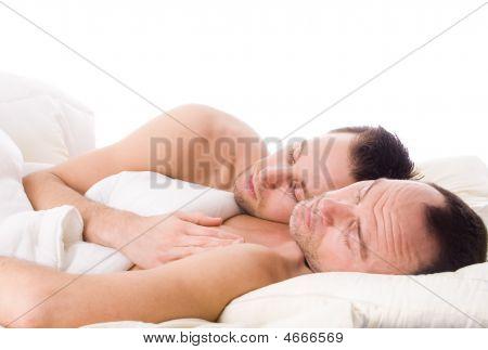 schlafen Homosexuell Paar