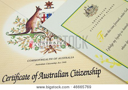australian citizenship certificates