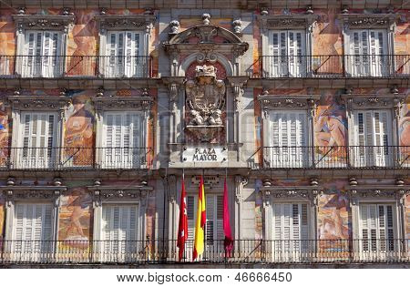 Casa de la Panaderia on Plaza Mayor in Madrid, Spain / architecture and art