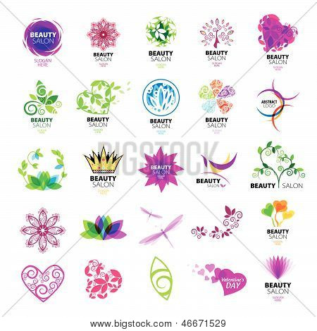 Collection of vector design icons for beauty salons