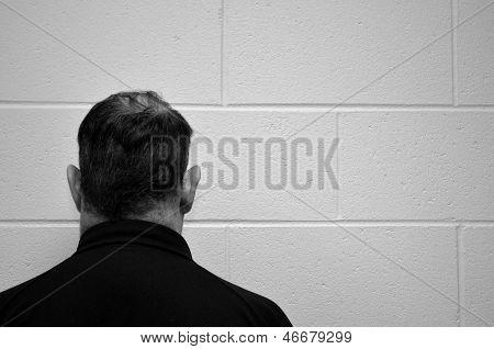 Facing the wall