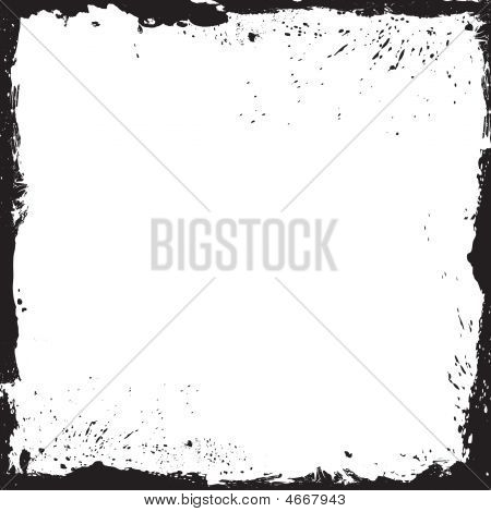 Grunge Frame With Background
