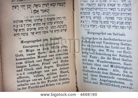 German And Hebrew Prayerbook