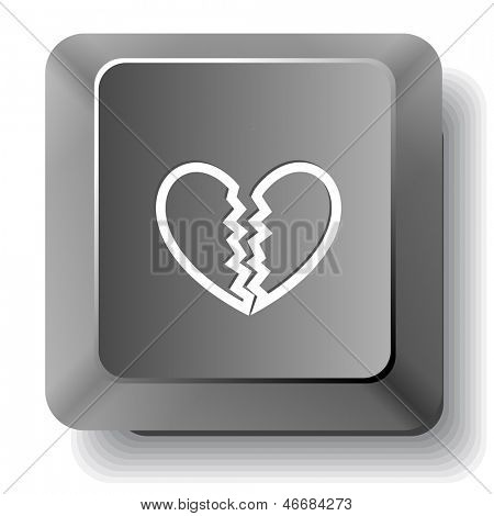 Unrequited love. Raster computer key.