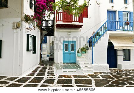 Traditional Greek houses at Mykonos