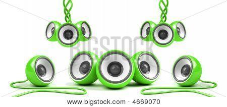 Green Stylish Futuristic Audio System