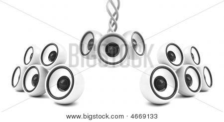 White Stylish Modern Audio System