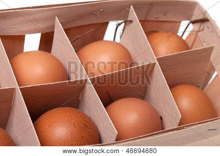 Brown Eggs In Eco-box