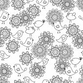 Hand Drawn Seamless Tileable Doodle Vector Background poster