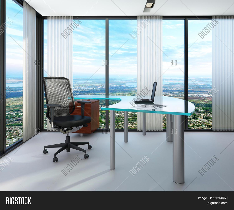 Imagen y foto Interior De La Oficina Moderna Con | Bigstock