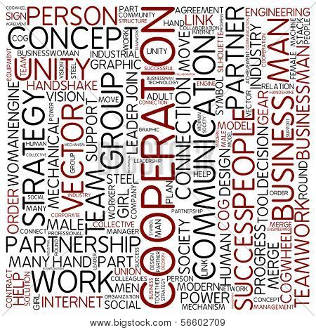Word cloud - cooperation poster