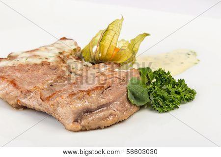 Piece Of Bavarian Roasted Pork In Beer Sauce