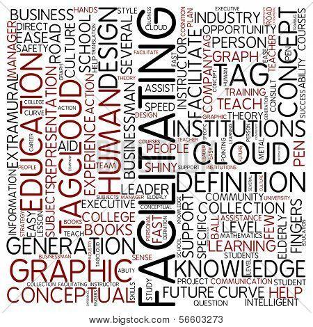 Word cloud - facilitating