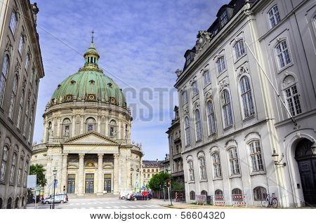 Frederik's Church (Danish: Frederiks Kirke), popularly known as The Marble Church (Marmorkirken) for its architecture, is an Evangelical Lutheran church in Copenhagen, Denmark.